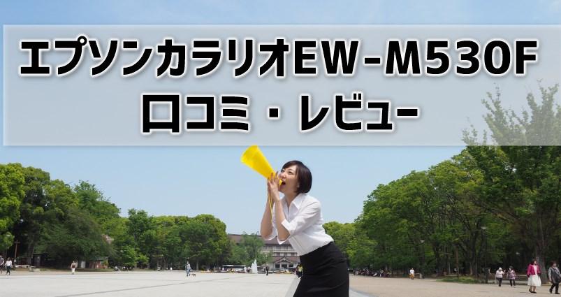 【エプソンカラリオEW-M530Fの口コミ・レビュー】価格や使用感の評判はどう?